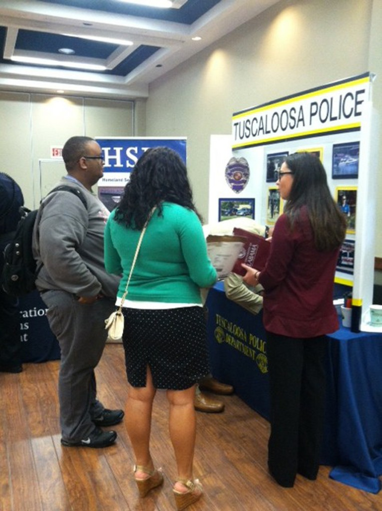 Students attending the 2015 career fair
