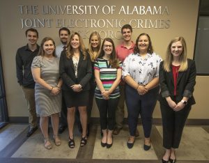 group of criminal justice students with Dr. Diana Dolliver