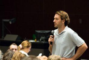 Instructor Doug Klutz teaching a class