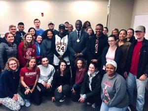 UA students with Dr. Yusef Salaam